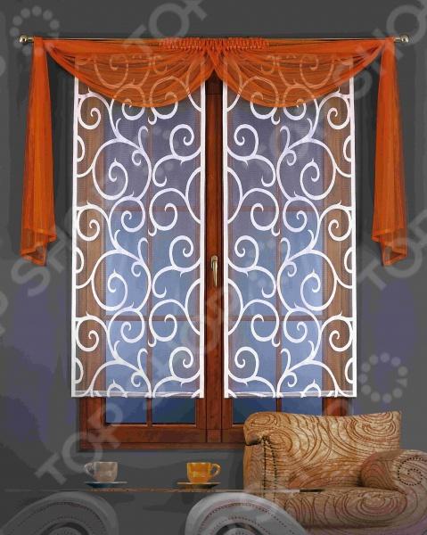 Гардина-панно Wisan 5880 комплект штор для кухни wisan celina на ленте цвет белый оранжевый высота 180 см