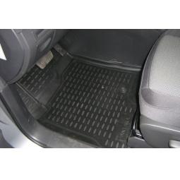 Комплект ковриков в салон автомобиля Novline-Autofamily Fiat Grande Punto 5D 2012. Цвет: бежевый - фото 5