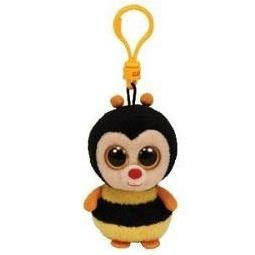 фото Мягкая игрушка с клипсой TY Пчела STING. Высота: 12,5 см