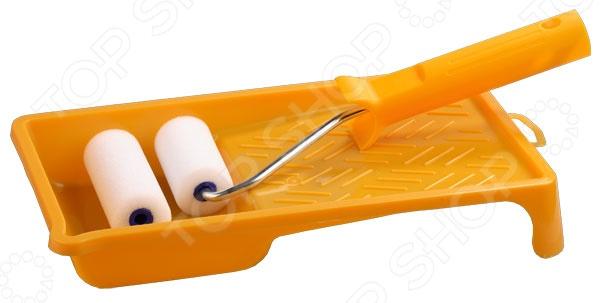 Валик с ванночкой Stayer «Поролон Мини» набор малярный korvus валик поролон ванночка ролик