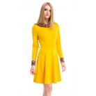 Фото Платье Mondigo 5153-1. Цвет: горчичный. Размер одежды: 48