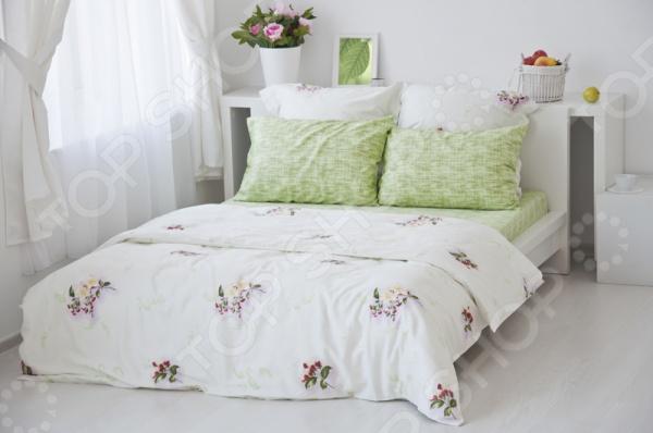 Комплект постельного белья Tete-a-Tete «Цвет». 1,5-спальный1,5-спальные<br>Комплект постельного белья Tete-a-Tete Цвет это комплект постельного белья нового поколения , предназначенного для молодых и современных людей, желающих создать модный интерьер спальни и сделать быт более комфортным. Белье из великолепной сатиновой ткани станет украшением любой спальни. Все предметы комплекта выполнены по цельнокроеной технологии. Наволочки имеют клапан без пуговиц и молнии. При изготовлении постельного белья Tete-a-Tete используются устойчивые гипоаллергенные красители. Основой для ткани служит натуральный хлопок. Специальный станок изготавливает из тонкой пряжи прочные и гладкие нити атласного переплетения. Ткань, сделанную таким образом, легко узнать по ее особому блеску, мягкости и гладкости. Пошив, происходящий на автоматической линии, гарантирует, что размер белья будет строго соблюдаться. Благодаря уникальным потребительским свойствам, белье не теряет цвет и не садится во время стирки, а на ткани не образуются катышки . Комплект постельного белья Tete-a-Tete Цвет упакован в подарочную коробку, поэтому может стать отличным подарком для друзей, родных и близких. Рекомендации по уходу: стирайте изделия из комплекта, предварительно вывернув их наизнанку при температуре до 30 С, c использованием современных высокотехнологичных порошков, щадящих отбеливателей без хлора и мягких кондиционеров. При необходимости, добавляйте смягчители для воды. Режим отжима и сушки щадящий.<br>