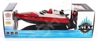 Катер на радиоуправлении Shantou Gepai MX-0010-1Катера, лодки, корабли радиоуправляемые<br>Катер на радиоуправлении Shantou Gepai MX-0010-1 реалистично смоделированная копия оригинального водного судна. Ребенок сможет управлять скоростной лодкой при помощи пульта радиоуправления с радиусом действия до 50 м. Модель может двигаться в четырех направлениях вперед-назад, влево-вправо и развивать неплохую скорость. Катер изготовлен из высококачественного прочного материала и обладает потрясающей детализацией, что сделает игровой процесс более увлекательным. Внимание! Прежде чем приступить к игре, замкните контакты, находящиеся на дне корпуса игрушки. В противном случае катер не будет реагировать на пульт управления. Характеристики:  Развивает скорость до 5 км ч.  Радиус пульта управления до 50 м. 3 частоты.  Работает от аккумуляторной батареи 4.8 V в комплекте .  Пульт работает от 4 батареек типа АА в комплект не входят .<br>