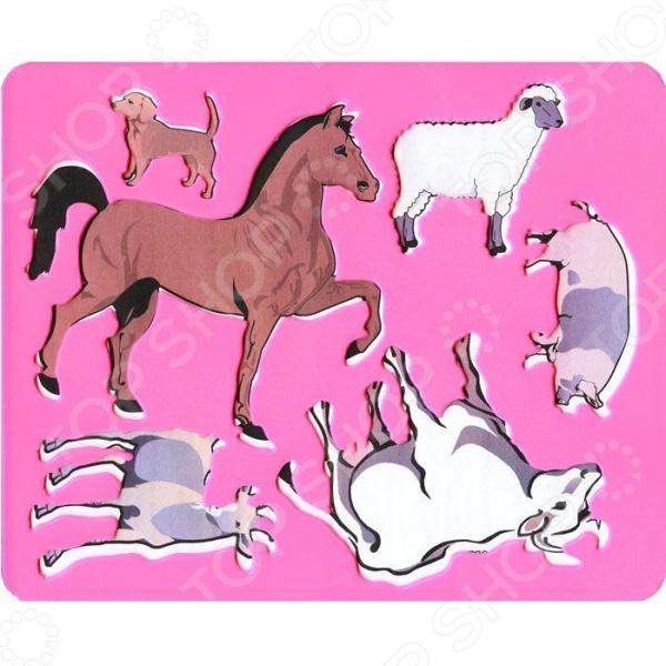 Трафарет пластиковый Луч «Домашние животные». В ассортименте