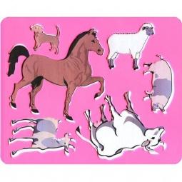 фото Трафарет пластиковый Луч «Домашние животные». В ассортименте