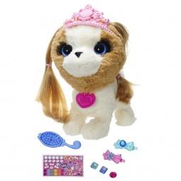 фото Мягкая игрушка интерактивная Hasbro A9934 «Модные зверята. Бело-коричневый щенок»