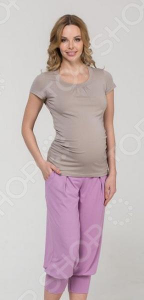 Капри для беременных Nuova Vita 5309.02. Цвет: розовый aibo подходит для беременных женщин беременных женщин посвященный послеродовой таз с кружевными моделями m137 цвет xl