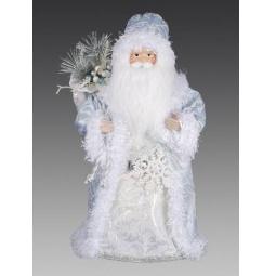 фото Игрушка новогодняя Holiday Classics «Дед Мороз со снежинкой и мешком подарков»