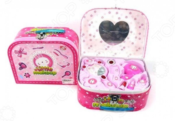 Набор аксессуаров для девочки Shantou Gepai «Чемодан-косметичка» 1707356 набор мебели для куклы shantou gepai в чемоданчике 8019