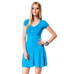 фото Платье Mondigo 7055. Цвет: бирюзовый. Размер одежды: 42