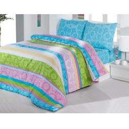фото Комплект постельного белья Casabel Sienna. 2-спальный. Цвет: голубой