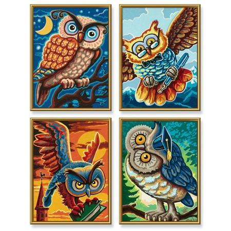 Купить Набор для рисования по номерам Schipper «Совы мудрости»