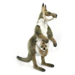 фото Мягкая игрушка для ребенка Hansa «Кенгуру с детенышем»