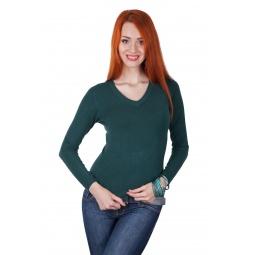 фото Джемпер Mondigo 9131. Цвет: темно-зеленый. Размер одежды: 42