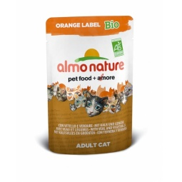 Купить Корм влажный для кошек Almo Nature Orange Label Bio Adult with Veal and Vegetables