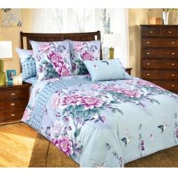 фото Комплект постельного белья Белиссимо «Поэзия». 2-спальный. Цвет: голубой