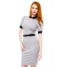 Фото Платье Mondigo 8663. Цвет: серый. Размер одежды: 46
