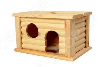 Домик для мелких грызунов Red Plastic с плоской крышей домик для грызунов