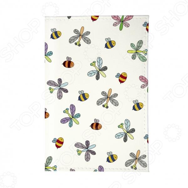 Обложка для паспорта Mitya Veselkov «Стрекозы и пчелки» вольдемар бонзельс приключения пчелки майи