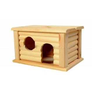 Купить Домик для мелких грызунов Red Plastic с плоской крышей