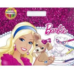 Купить Барби. Большая раскраска-цветная подсказка