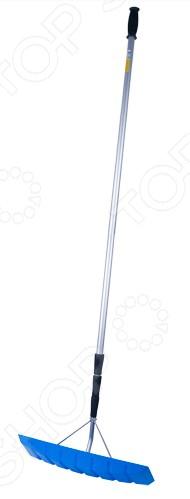 Скребок телескопический для удаления снега Brigadier 87029Лопаты для снега. Скреперы. Ледорубы<br>Скребок телескопический для удаления снега Brigadier 87029 предназначен для уборки снега с крыш с целью защиты кровли от протечек и разрушений. Прочное полотно скребка выполнено из ABS-пластмассы и усилено дополнительными рёбрами жёсткости, что гарантирует долгий срок службы. Лёгкая 4-х секционная телескопическая ручка выполнена из алюминия и позволяет убирать снег на расстоянии от 1,5 до 6 метров.<br>