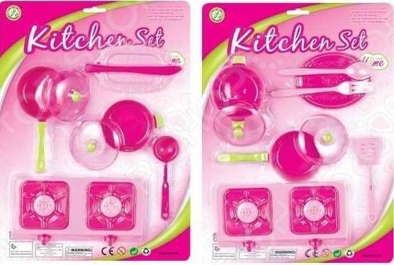 Набор посуды Kitchen Set 1717171. В ассортиментеИгровые наборы для девочек<br>Товар продается в ассортименте. Вид изделия при комплектации заказа зависит от наличия товарного ассортимента на складе. Набор посуды Kitchen Set 1717171 в нежно-розовой расцветке. Маленькие леди очень любят такую цветовую гамму, поэтому они точно оценят такой милый и забавный набор посуды. Играя с таким комплектом, они смогут почувствовать себя на месте любимых мам, которые создают на кухне настоящие кулинарные шедевры. В распоряжении маленьких хозяек есть плитка, посуда и различные приборы. Словом, все, что нужно для готовки. Набор изготовлен из высококачественного пластика, не токсичен и безвреден для здоровья.<br>