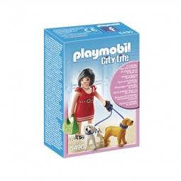 фото Конструктор игровой Playmobil «Торговый центр: Покупательница с щенками»