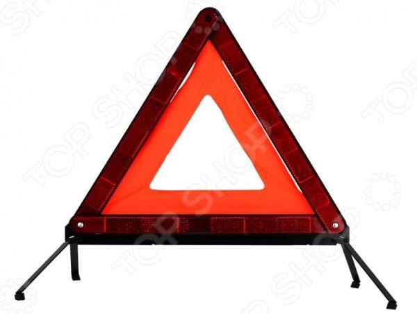 Знак аварийной остановки Зубр Мастер 61155 - необходимый дорожный аксессуар в арсенале любого автолюбителя. С его помощью вы сможете обезопасить себя и других участников дорожного движения от непредвиденных ситуаций. Яркий и заметный знак в виде треугольника будет незаменимым в случае дорожно-транспортного происшествия, в случае аварийной остановки в местах, где остановка запрещена или там, где другие водители не смогут вовремя увидеть ваше авто. Знак хранится в специальном пластиковом футляре, который обеспечивает его удобное и компактное хранение в вашем багажнике. Высота знака составляет 46 см, а его платформа - 9,5 см.