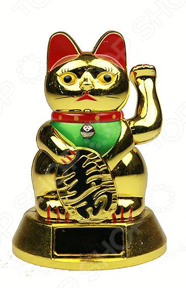 Статуэтка «Талисман японский Кот удачи» 60102Статуэтки и фигурки<br>Статуэтка Талисман японский Кот удачи 60102 изысканный декоративный элемент для вашего дома. Изделие поможет внести завершающий штрих в интерьер любой комнаты, ведь уют складывается из мелочей. Кроме того, если вы желаете подобрать памятный подарок близкому человеку, то эта милая вещица прекрасно подойдет. Изделие выполнено из пластика. Материал не требует особого ухода, достаточно регулярно удалять пыль сухой мягкой тканью. Статуэтка изображает популярный японский талисман Манэки-нэко Манящий кот, также известный под именем Кот удачи . По народным поверьям такая фигурка привлекает счастье, удачу и деньги в дом.<br>