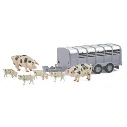фото Набор игровой для мальчика Tomy «Фермерский прицеп со свинками»