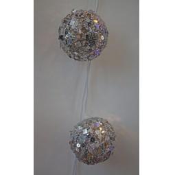фото Гирлянда электрическая Новогодняя сказка «Шары плетеные с пайетками» NS97216. В ассортименте