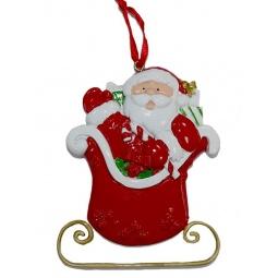 фото Елочное украшение Crystal Deco «Санта с подарками» 1707845