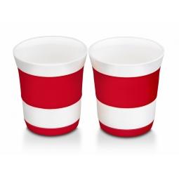 фото Набор стаканов Oursson: 2 предмета. Цвет: красный