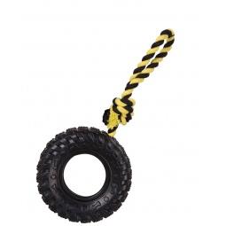 фото Игрушка для собак DEZZIE «Протекторная шина на веревке». Размер: 24,5 см