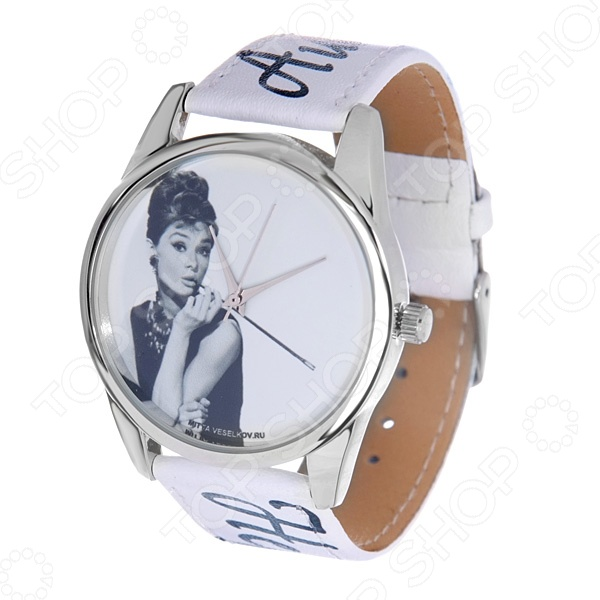 Часы наручные Mitya Veselkov «Одри курит» ART часы наручные mitya veselkov часы mitya veselkov одри на белом курит арт mv 38