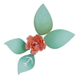 фото Форма для вырубки Sizzix Sizzlits Die Цветочки, цветение и 3D Листья
