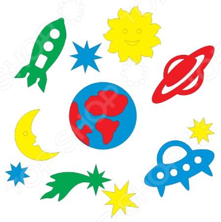 Набор для ванны Флексика «Космос»Игрушки для ванны<br>Товар продается в ассортименте. Цвет изделия при комплектации заказа зависит от наличия товарного ассортимента на складе. Набор для ванны Флексика Космос превратит скучное и утомительное купание в захватывающую игру и путешествие. В набор входят яркие и цветные фигурки на тему космос, которые прекрасно липнут к мокрой поверхности ванной. Их достаточно немного намочить и приложить к влажному кафелю или ванне. С оригинальными фигурками малыш сможет создавать удивительные сюжеты, придумывать истории или просто расклеивать по ванной в произвольном порядке. Все элементы выполнены из мягкого и приятного материала, который отличается удивительной долговечностью. Их также можно использовать в качестве оригинальных печатей для рисования.<br>