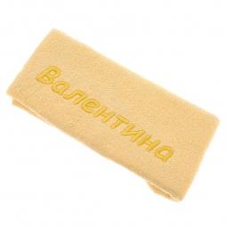 фото Полотенце подарочное с вышивкой TAC Валентина. Цвет: желтый
