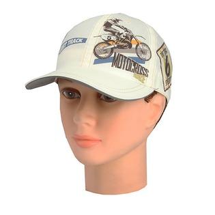 Купить Бейсболка для мальчиков Shapochka Motocross. Цвет: экрю