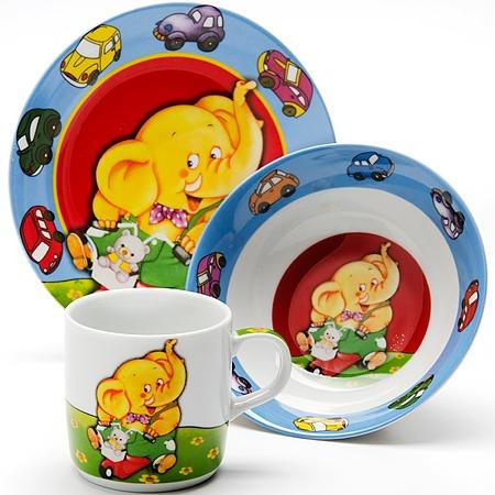 Купить Набор посуды для детей Loraine LR-24021 «Слон»