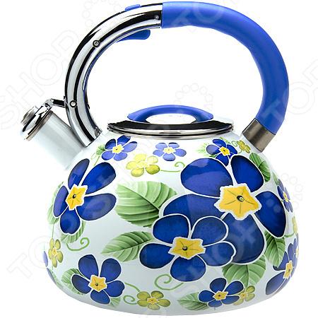 Чайник со свистком Mayer&amp;amp;Boch MB-23851Чайники со свистком и без свистка<br>Чайник со свистком Mayer Boch MB-23851 это объемный чайник на 3,5 л, который сделан из нержавеющей стали. На носик чайника можно прикрепить свисток. Ручка покрыта специальным материалом, оснащена специальным участком, за который удобно брать. Нержавеющая сталь обладает высокой устойчивостью к коррозии, не вступает в реакцию с холодными и горячими продуктами и полностью сохраняет вкусовые качества. Крышка выполнена в одном дизайне с чайником. Можно отметить следующие преимущества подобного чайника по сравнению с электрическими:  быстрый нагрев воды;  большой объем;  долговечность покрытия;  расходы на подогрев воды намного меньше;  гигиеничность, благодаря металлическому корпусу.<br>