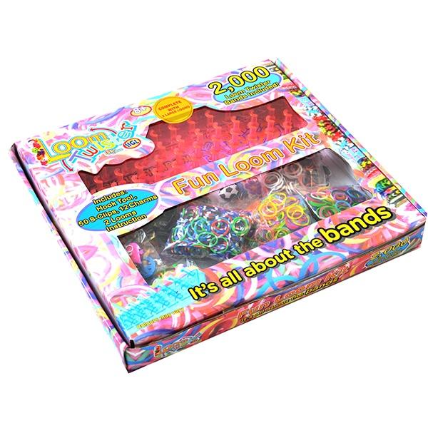 Набор цветных резинок для плетения фенечек Loom Twister SV11755