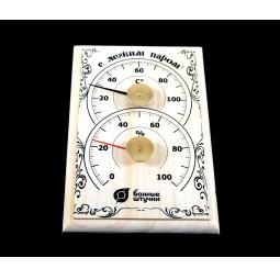 Купить Термометр для бани и сауны Банные штучки «С легким паром!» с гигрометром