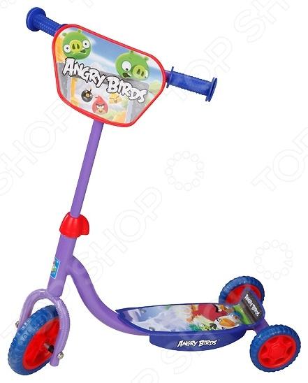 Самокат трехколесный 1 Toy Т56808 «Angry Birds» зонт детский disney принцесса белль ариэль и аврора прозрачный 50 см