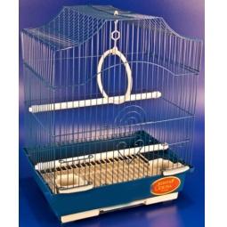 фото Клетка для птиц Золотая клетка с аксессуарами. Цвет: синий