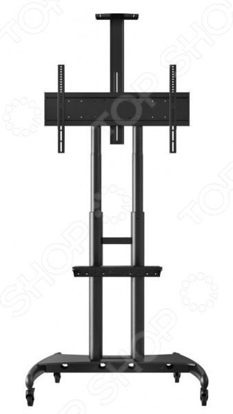 Стойка под TV мобильная Bmgroup NB AVA1800-70-1PТумбы под телевизор<br>Стойка под TV мобильная Bmgroup NB AVA1800-70-1P современная стойка под ЖК телевизоры и плазменные панели. Она отлично впишется в любой интерьер, обеспечит надежную стабильность для аппаратуры чувствительной к вибрациям. Конструкция имеет небольшой вес, при этом достаточно прочна и долговечна. Оснащена колёсиками с блокировкой движения. Полку можно регулировать по высоте. Преимущества:  Легкая и удобная установка.  Регулировка высоты телевизора осуществляется легко и быстро с помощью специальных кнопок с пружиной.  Встроенный в столбы кабель-канал.  Надёжные колесики с системой фиксации.<br>