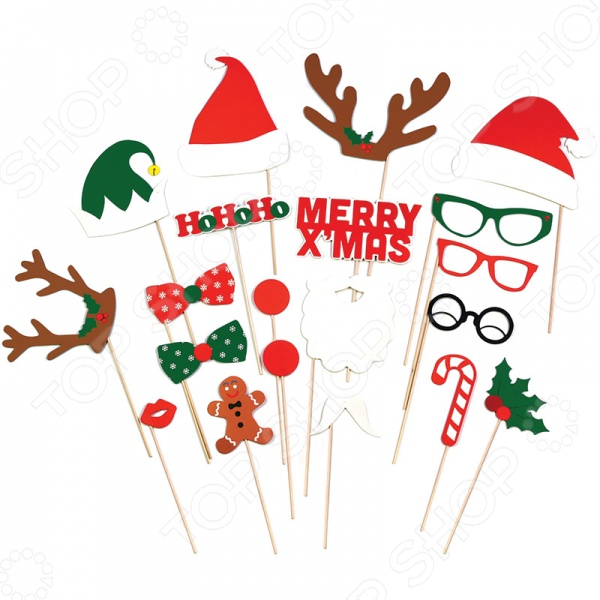 Набор аксессуаров для вечеринки Doiy X-Mas Booth ver.2Карнавальные маски<br>Набор аксессуаров для вечеринки Doiy X-Mas Booth ver.2 - добавит веселья и задора в новогоднюю или рождественскую вечеринку. С таким набором каждый участник вечеринки сможет примерить на себя бороду Санты или рога и нос Рудольфа. Ну и если кто-то окажется не в праздничном наряди, то нарядные бабочки и диско очки - изменят его в нужном направлении. С таким набором не составит труда сделать самые смешные фотографии, которые будут веселить всех весь год. В набор входит 20 забавных аксессуаров на палочке.<br>