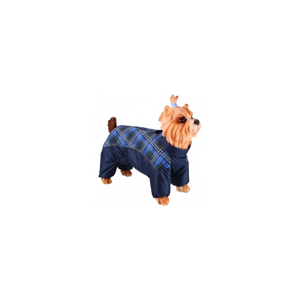фото Комбинезон-дождевик для собак DEZZIE «Шпиц». Цвет: синий. Материал подкладки: нет