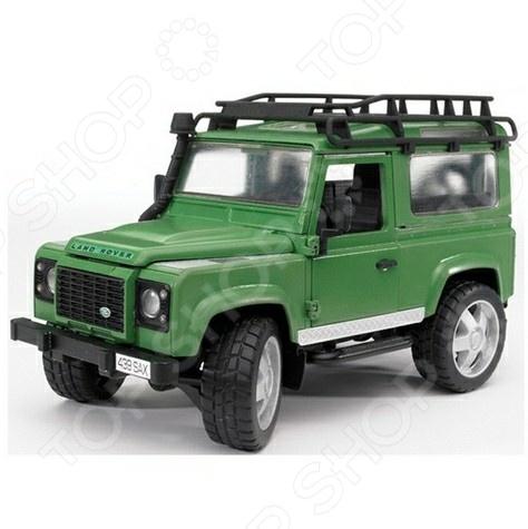 Внедорожник игрушечный с аксессуарами Bruder Land Rover Defender bruder внедорожник land rover defender station wagon пожарный с фигуркой 02 596
